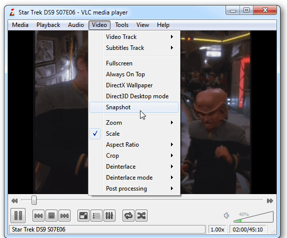 Screenshots from Video by Using the VLC Media Player