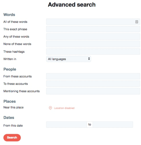 ADVANCED SEARCHES
