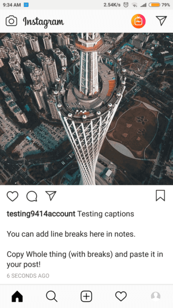 invisible line breaks into your IG bios and captions