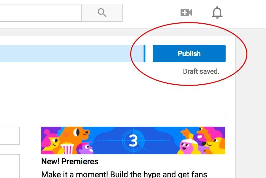 publish video on youtube