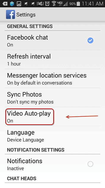 """select """"Video Auto-Play"""" link"""