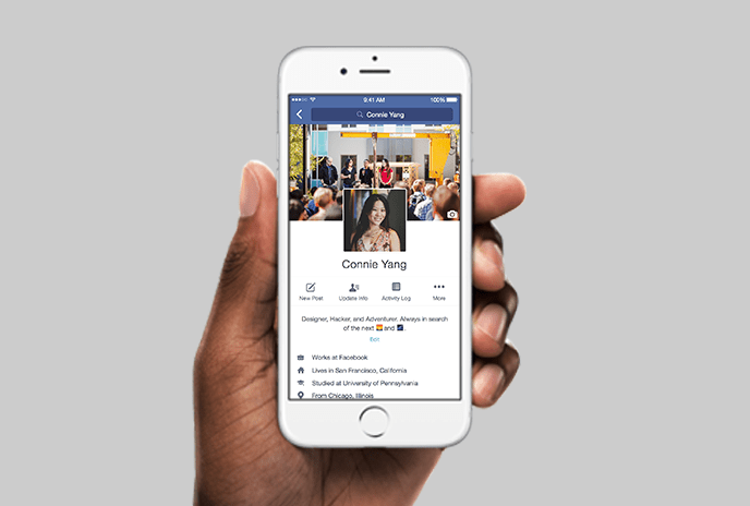 Facebook Profile for iPhone