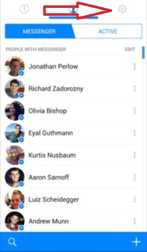 Settings page of your Messenger