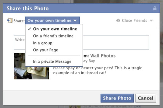 Share A Post On Your Facebook Page