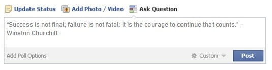 quotes in facebook post