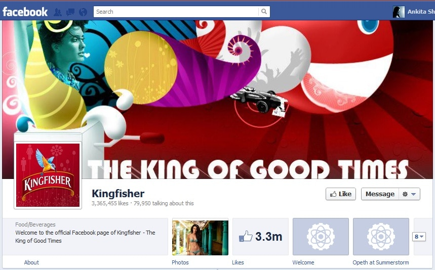 brand image on facebook cover photo