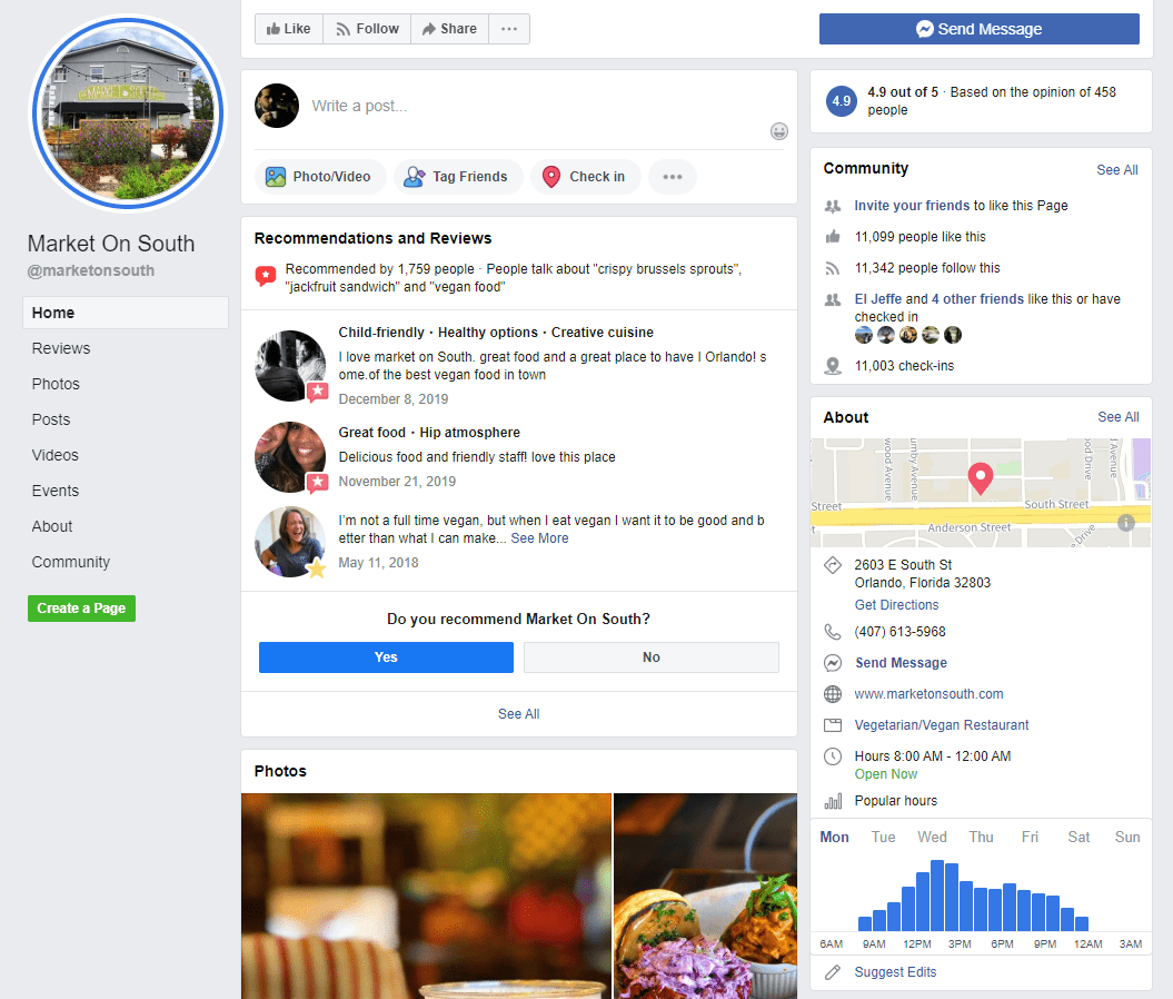 facebook page for notification