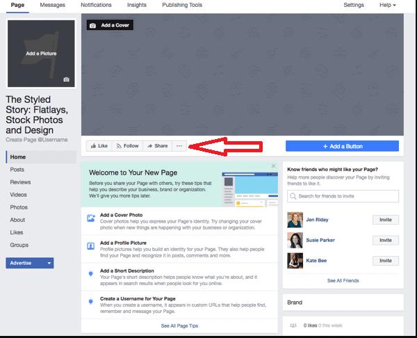facebook page three dots
