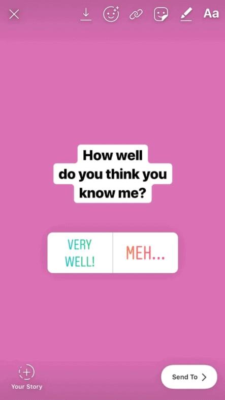 Personal Instagram Quiz Questions