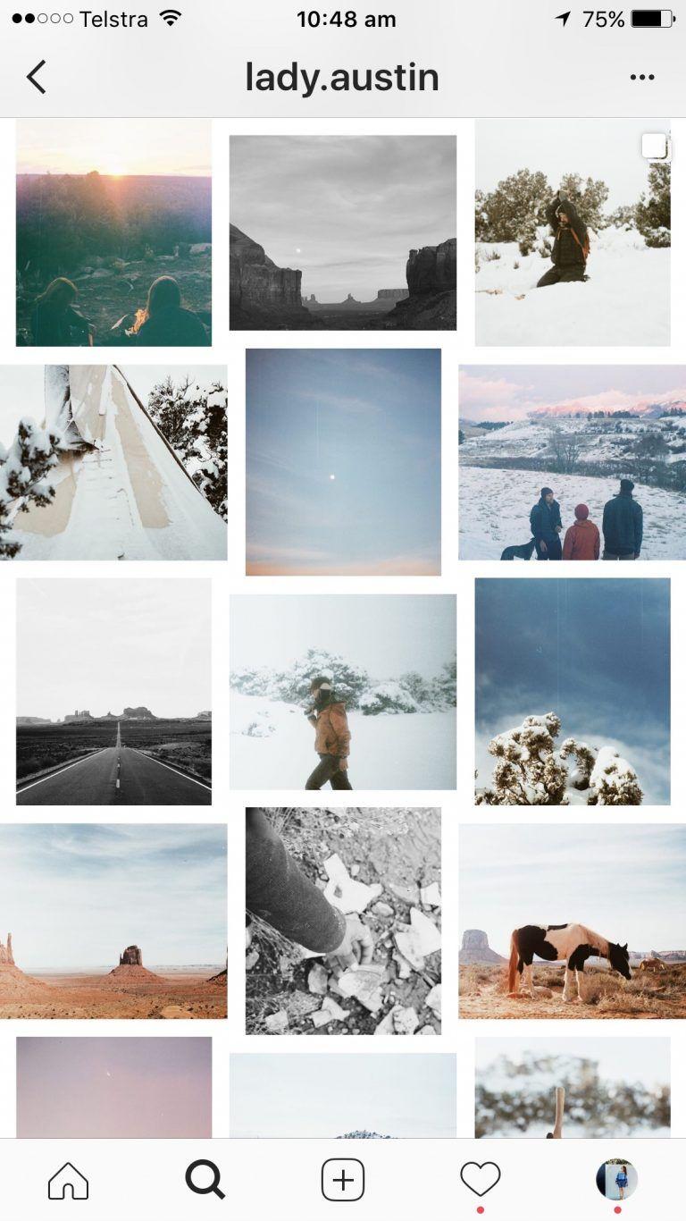 Mixed White Border theme instagram