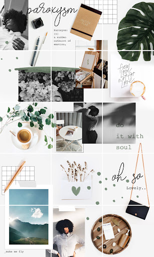 White Background theme instagram